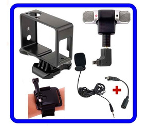 Gopro Kit 2 Mini Microfones Externos P/ Hero4/hero3+ C/acess
