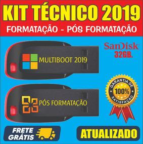 Kit Pendrive Multiboot + Kit Pós Formatação / Frete Grátis