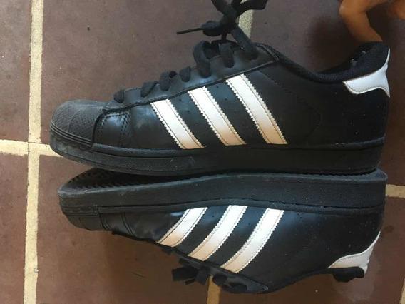Zapatillas adidas Superstar Negras Talle 41