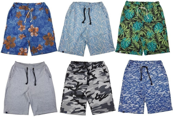 Kit 10 Short Bermuda Moletom Masculina Florida Top Atacado