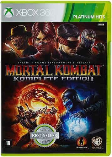 Mortal Kombat Komplete Edition Xbox 360 Origina Mídia Física