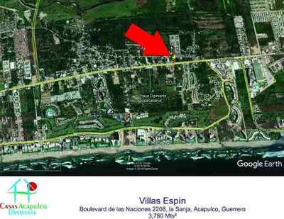 (crm-4510-2975) Cad Playa Diamante - Villas Espín. Lote Con 3 Frentes. Uso De Suelo
