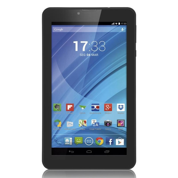 Tablet Multilaser M7 3g Preto, Quad Core, Android 4.4, Dual