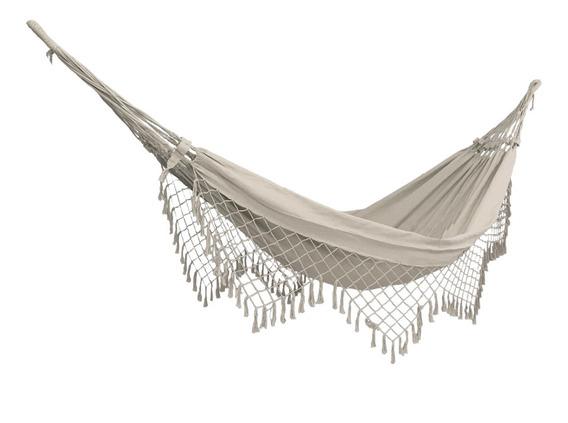 Rede Dormir Descanso Casal Nordeste Resistente Cores Lisas