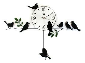 Reloj De Pared Péndulo Pájaro