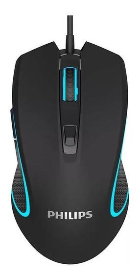 Mouse Gamer Philips G413 Laser Usb Óptico 6400 Dpi Original