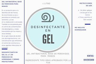 Gel Biocida. Gel Desinfectante 1 L
