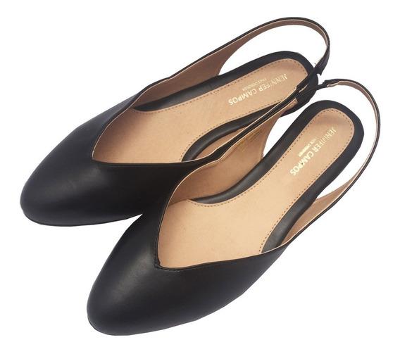 Flats Destalonados Suyan Negro