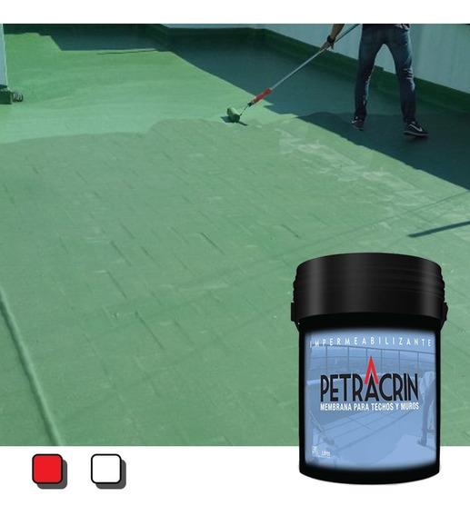 Pintura Membrana Liquida Petracrin Eco Verde 4 Kg Techos