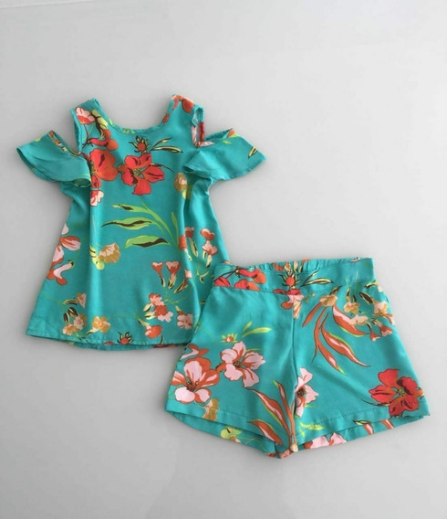 Kit 6 Peças - Menina 4 Anos - Roupa Infantil