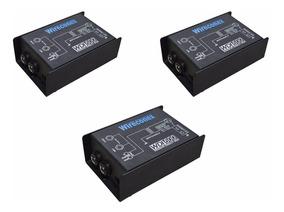 Kit 3 Direct Box Wireconex Wdi-600