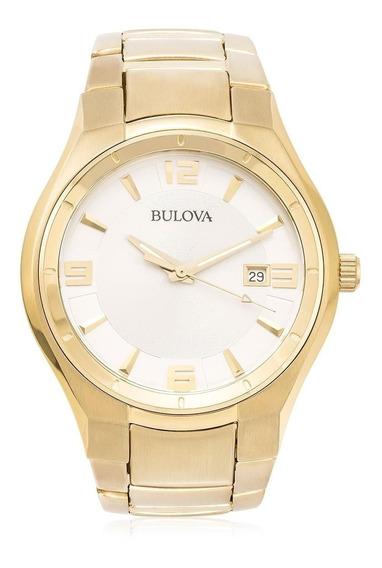 Relógio Bulova Dourado Analógico Unissex Wb21132h Original