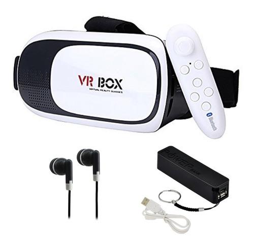 Imagen 1 de 9 de Lentes Realidad Virtual 3d 360 + Control + Pb + Aud Vr Box 2