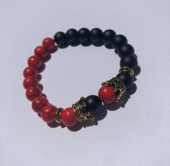Pulsera black And Red King