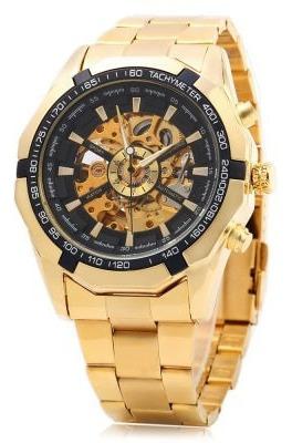 Relógio De Pulso Da Moda Importado Dourado Não Escurece