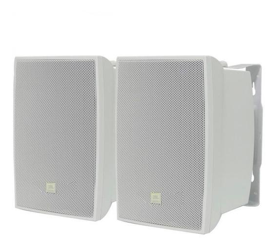 Kit Caixa Som Ambiente Jbl C621 100w C621b Par Branco Nfe