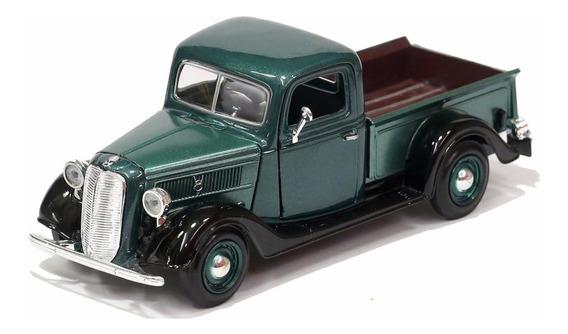 Miniatura Pickup Ford 1937 Verde Motormax 1/24