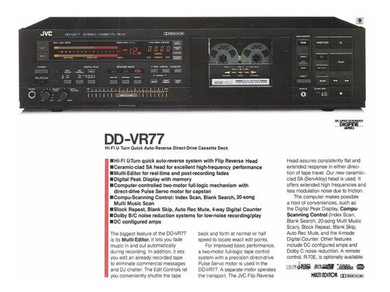 Tape Deck Jvc Dd-vr77 Direct Drive