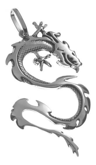 Corrente De Prata + Pingente Dragão