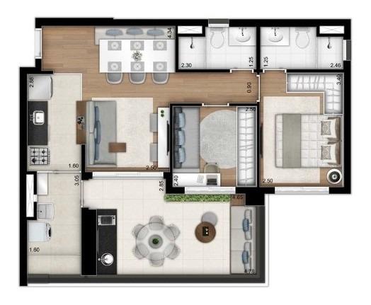 Vila Madalena Apartamento 2 Quartos 1 Vaga, Pronto Pra Mora