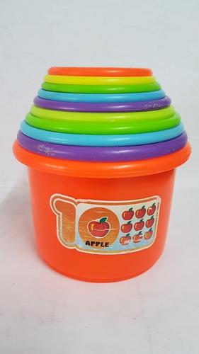 Tazas Apilables De Colores Bebés Infantiles