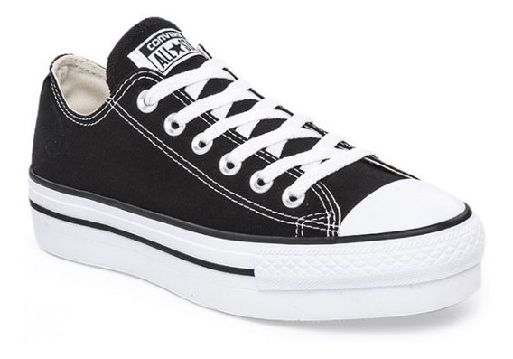 Zapatillas Con Plataforma Converse All Star Negro