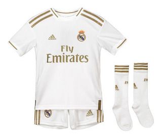 Kit Infantil Camisa + Short + Meião Real Madrid 2020 Oficial