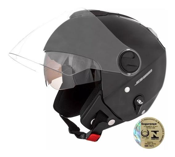 Capacete Moto Aberto Com Óculos Sub Viseira Fumê Masculino