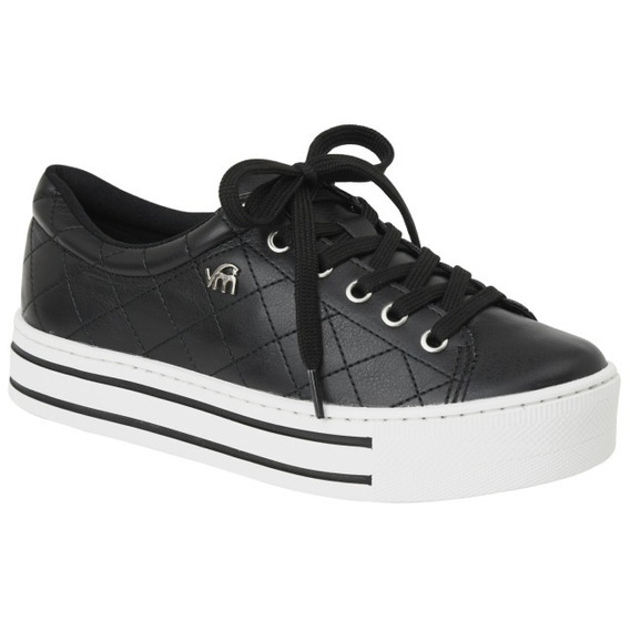 Tenis Casual Preto Via Marte 18-9506 Original