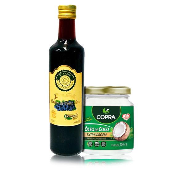 Vinagre Orgânico+óleo De Coco Extra Virgem 200ml-s/juros