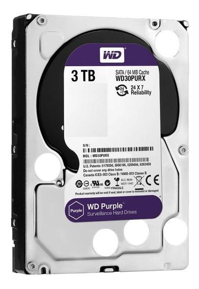 Hd 3 Tb Wd Purple Próprio Para Dvr