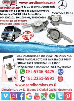 Bombas De Agua Automotrices Mercedes 904 Turbo Guatemala