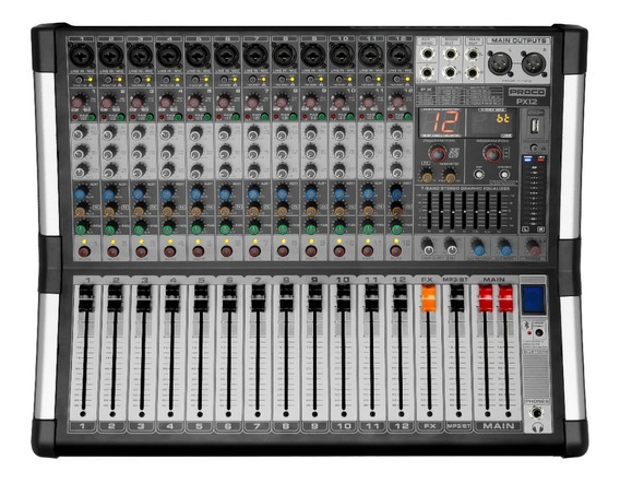 Proco Px-12 Consola Audio Mixer Potenciada Usb Bluetooth