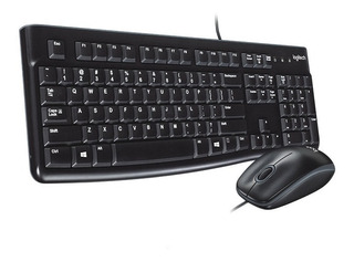 Teclado Y Mouse Usb Logitech Mk120 Combo Multimedia Slim