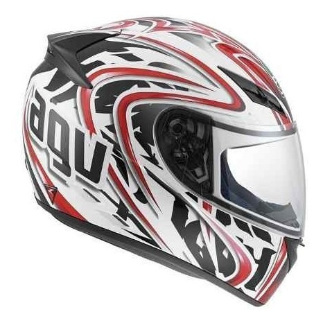 Capacete Agv K3 Wire White/red