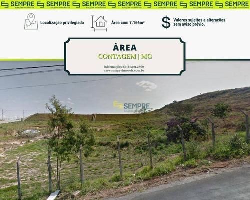 Imagem 1 de 7 de Área / Terreno À Venda, 7.166 M² - Jardim Riacho - Contagem/mg - Ar0006