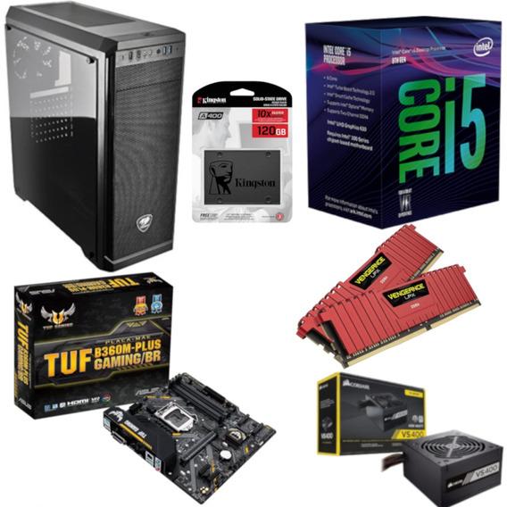 Pc Cougar Intel I5 8400 B360m Plus Vg 16gb Vs400 Ssd 120gb