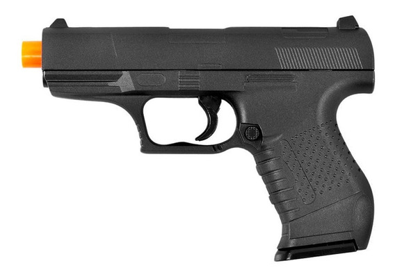 Pistola De Airsoft Spring G19 Walther P22 Full Metal 6mm - Galaxy