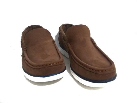 Zapato Mocasín Náutico Hombre Cuero Oxigeno