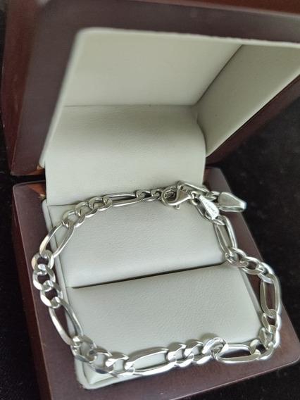 Pulsera De Oro Blanco 14k Mex Tipo Cartier