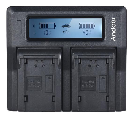 Andoer Np-fz100 Dual Channel Lcd Camera Carregador De Bateri