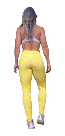 Calça Legging Academia Poá Fitness Roupas Moda Feminina 2020