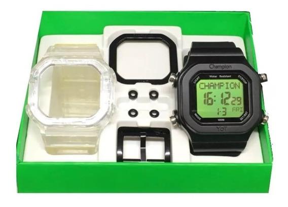 Relógio Original Champion Yot Verde Cp40180x Nota Fiscal