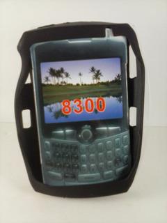 Capa Silicone Preta Blackberry 8300 Curve