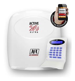 Kit Alarme Jfl Active 20 Ethernet Smartphone Monitorável