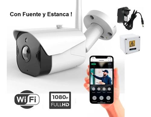 Cámara Wifi Ip Full Hd 1080p Audio Ycc365 + Fuente + Estanca