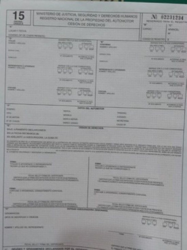 Formulario 15, Para Compania De Seguros, Cesión De Derechos