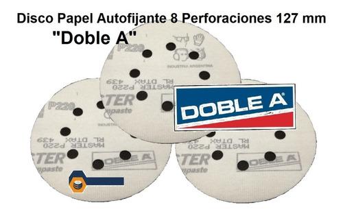 Imagen 1 de 9 de Lija C/velcro 125mm Lijadora Rotoorbital X50 Doble A 8perfo