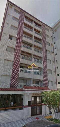 Apartamento Com 2 Dormitórios À Venda, 77 M² Por R$ 250.000,00 - Canto Do Forte - Praia Grande/sp - Ap0940