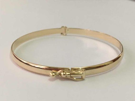 Pulseira Argola, Bracelete 3,5 Mm C 10 Argolinhas Ouro 10k